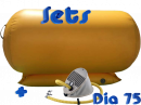 75 cm AirRoll geel & opblaasbare stabilizer pomp