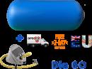 Air gymnast impuls cilinder Dia 60 x 120 cm blauw