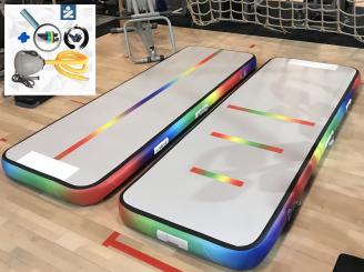 3m Rainbow Air Track Unicorn gym track, miniblower